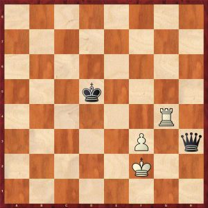 Queen v Rook + Pawn Breaking the Fortress Move 9 White to move