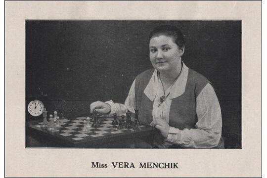 Death Anniversary for Vera Menchik (16-ii-1906 27-vi-1944)