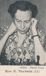 WIM Eileen Tranmer (05-v-1910 26-ix-1983). Source : The Anglo-Soviet Radio Chess Match