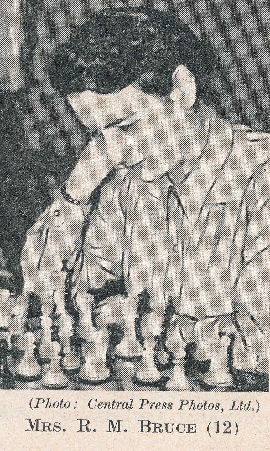 WIM Rowena Bruce (15-v-1919 24-ix-1999). Source : The Anglo-Soviet Radio Chess Match.
