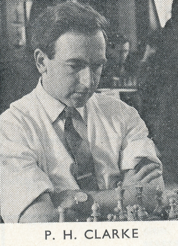 Peter Clarke at the 1963 Ilford Whitsun Congress. Source : British Chess Magazine, Volume LXXXIII, Number 7 (July), page 194