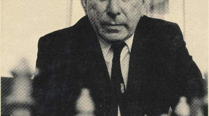 Death Anniversary of GM Harry Golombek OBE (01-iii-1911 07-i-1995)