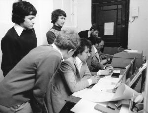 Simon Brown (far left)