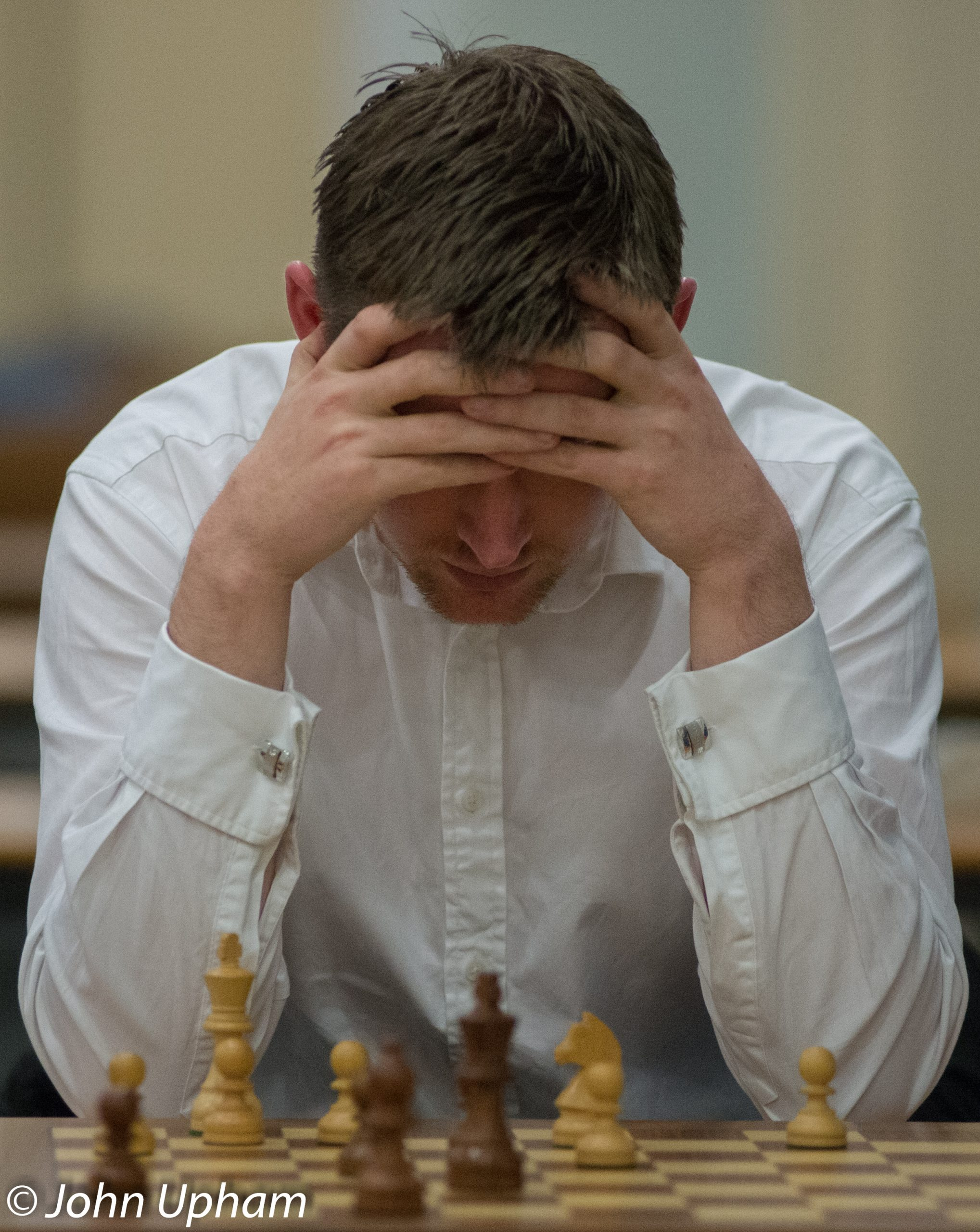 FM Alex Longson, London Chess Classic 2013, courtesy of John Upham Photography