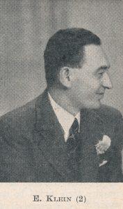 Ernst Ludwig Klein (29-i-1910 22-viii-1990)
